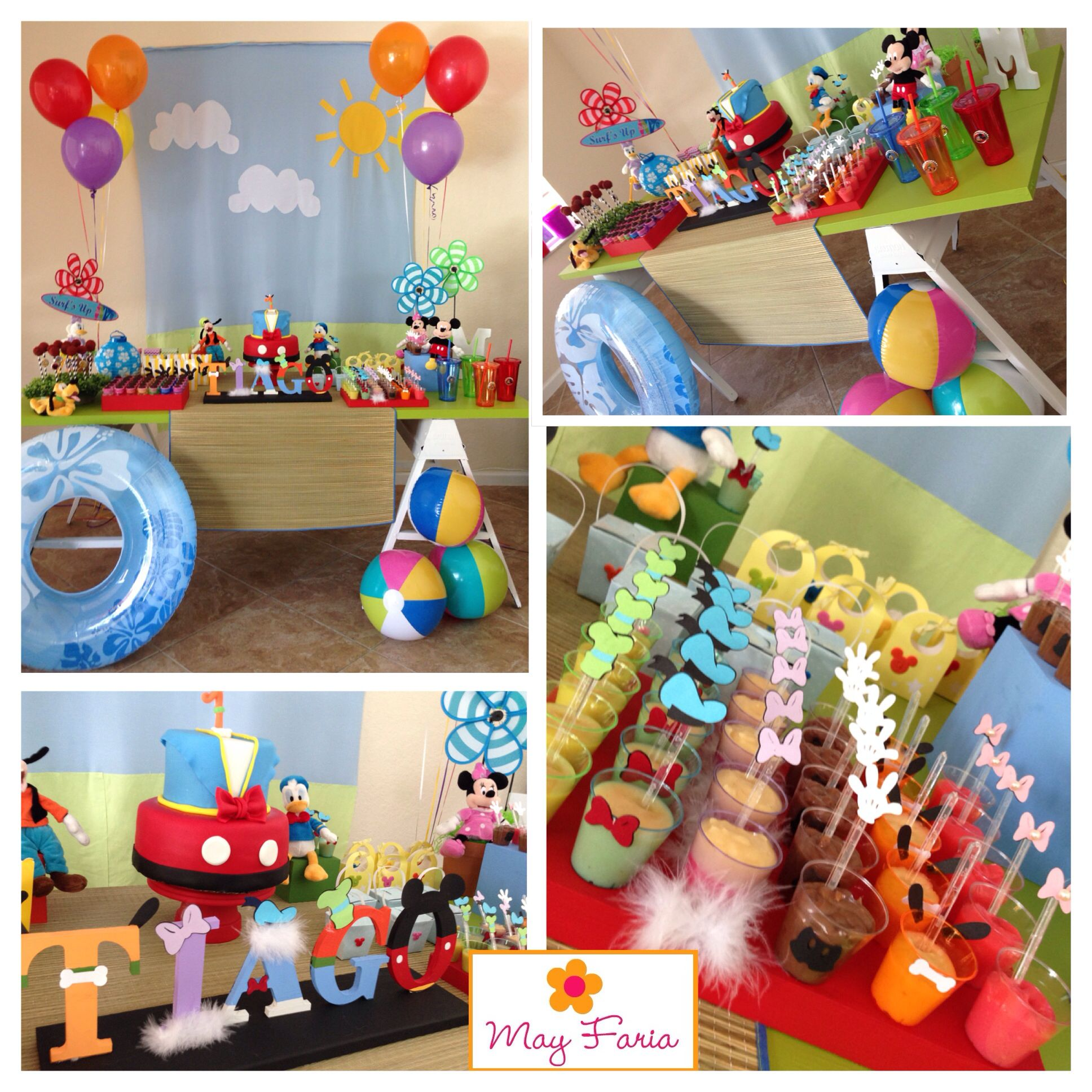 Mickey Mouse And Friends Beach Birthday Party Decoration Www