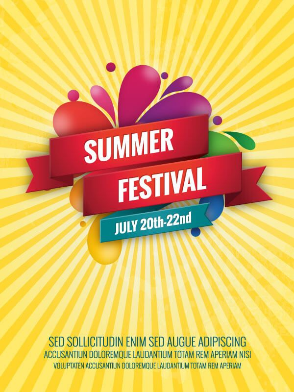 summer poster template free free vectors pinterest summer