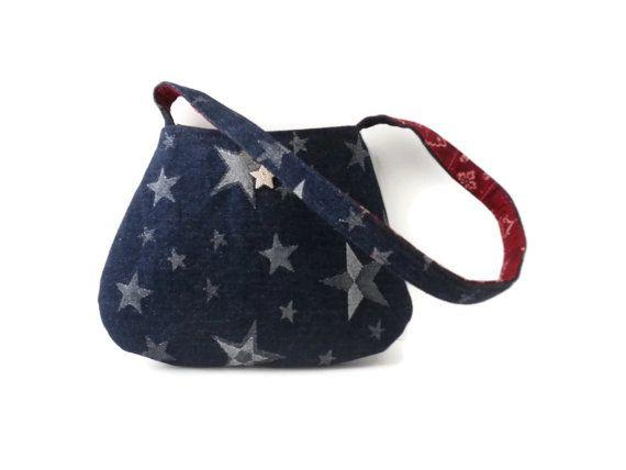 Denim Shoulder Bag sparkly small purse by gypsygirlfashions, $22.00