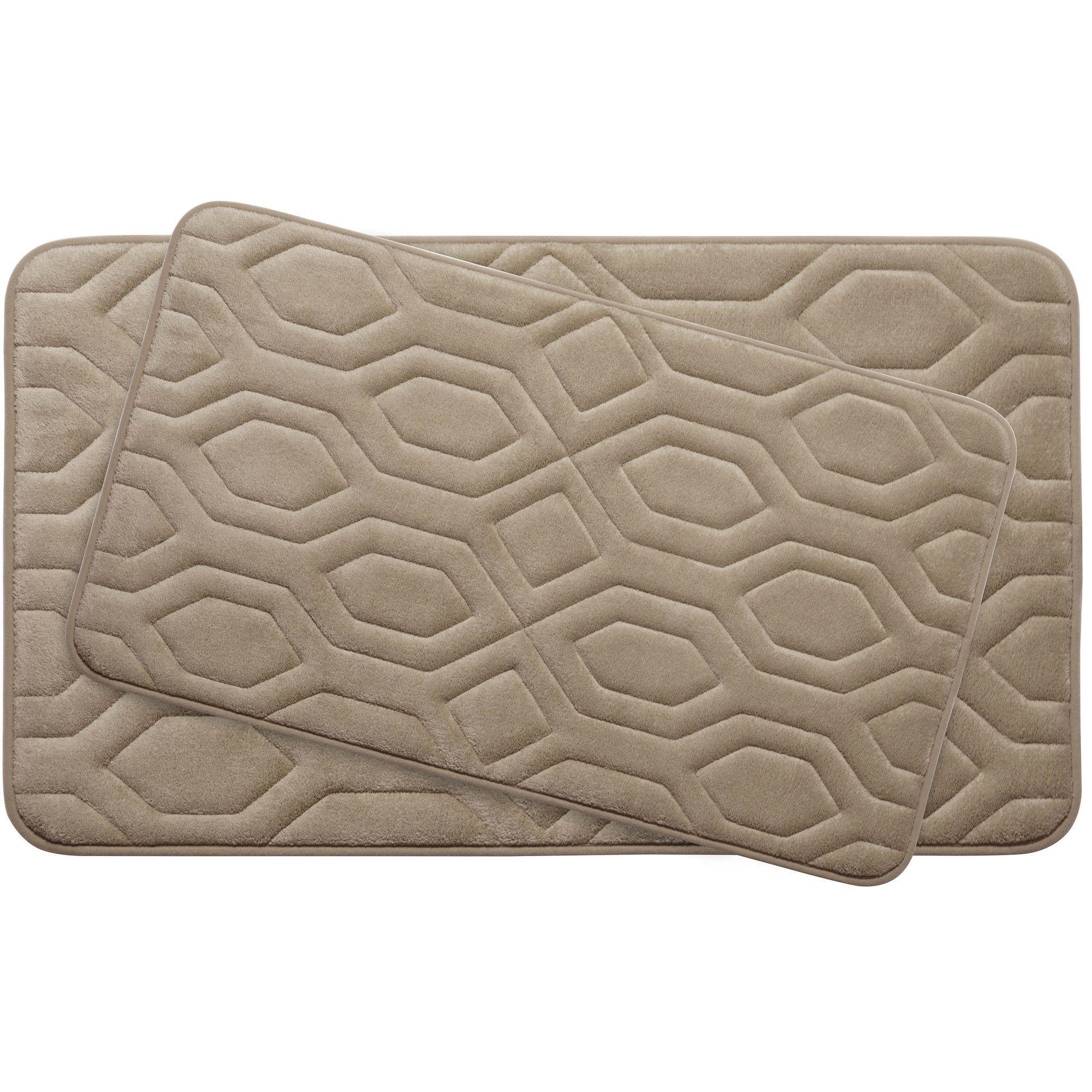 Turtle Shell Large 2 Piece Premium Micro Plush Memory Foam Bath