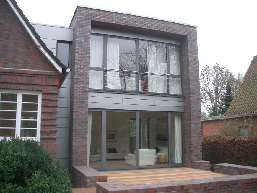 ansicht von westen mit terrasse anbau an einfamilienhaus aus den 20er jahren haus ideen. Black Bedroom Furniture Sets. Home Design Ideas