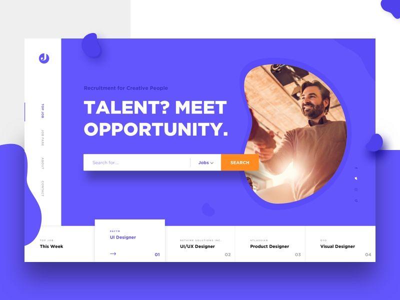 Job Board Job Board Web Design Web Layout Design