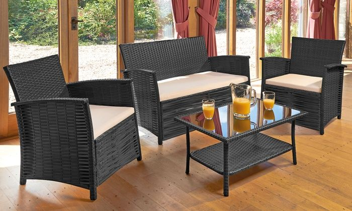 Groupon Goods Global Gmbh St Kitts Rattan Effect Furniture Set 159 98 With Cover 169 99 With Free Delivery Up To 58 Off Flat Outdoor Furniture Se