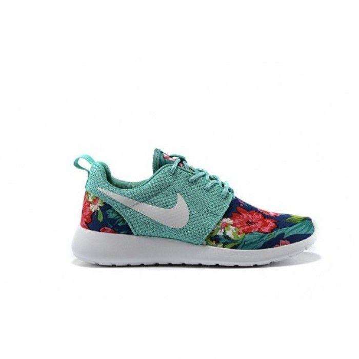 Nike Roshe Run Floral Print бирюзовый купить, цена на кроссовки женские  Украина: Киев,