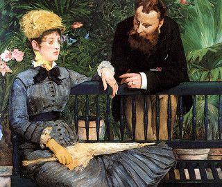 Edouard Manet - In the Winter Garden 1879 at Neue Nationalgalerie Berlin   por mbell1975