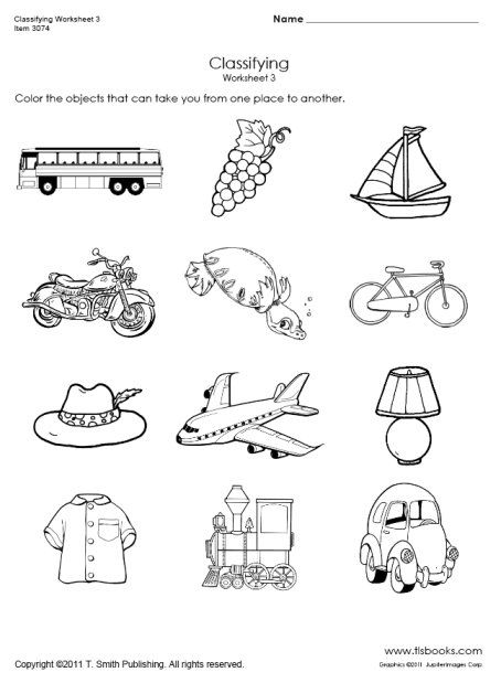 Snapshot image of Transportation Classifying Worksheet 3