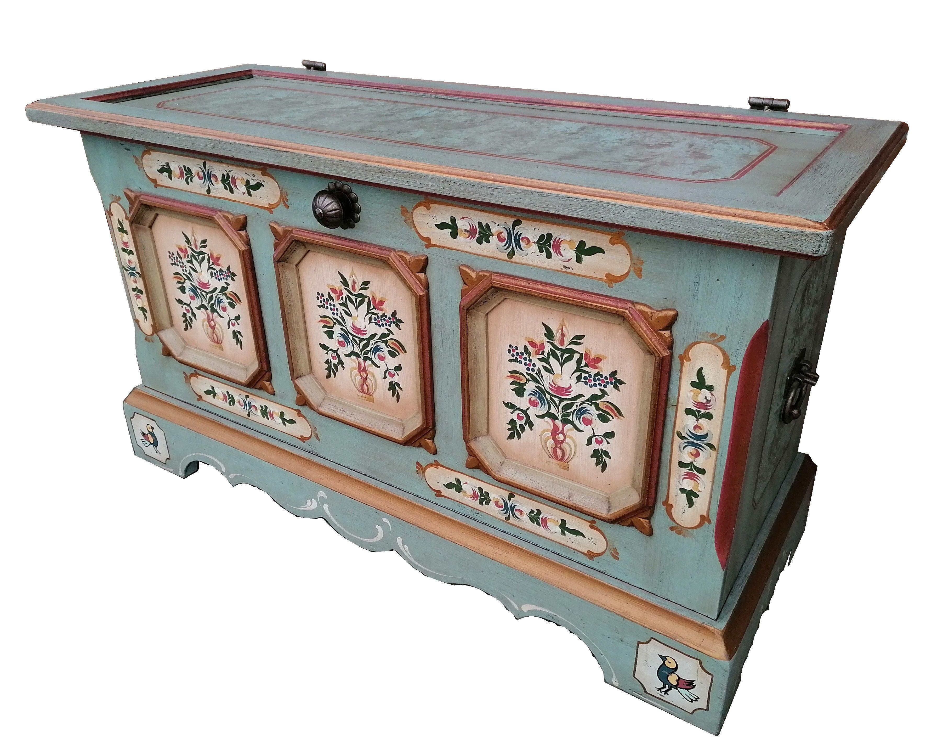Voglauer Anno 1700 Altblau Truhe Bauerntruhe Truhe Kiste