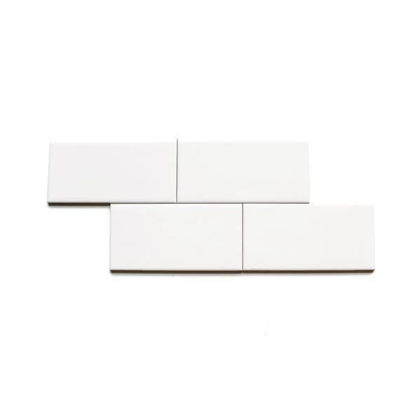 Clé basics ceramic white gloss subway tile 3x6x1/4