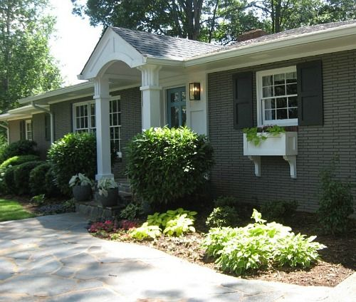 Giving A Basic Red Brick Ranch Modern Curb Appeal Brick Ranch