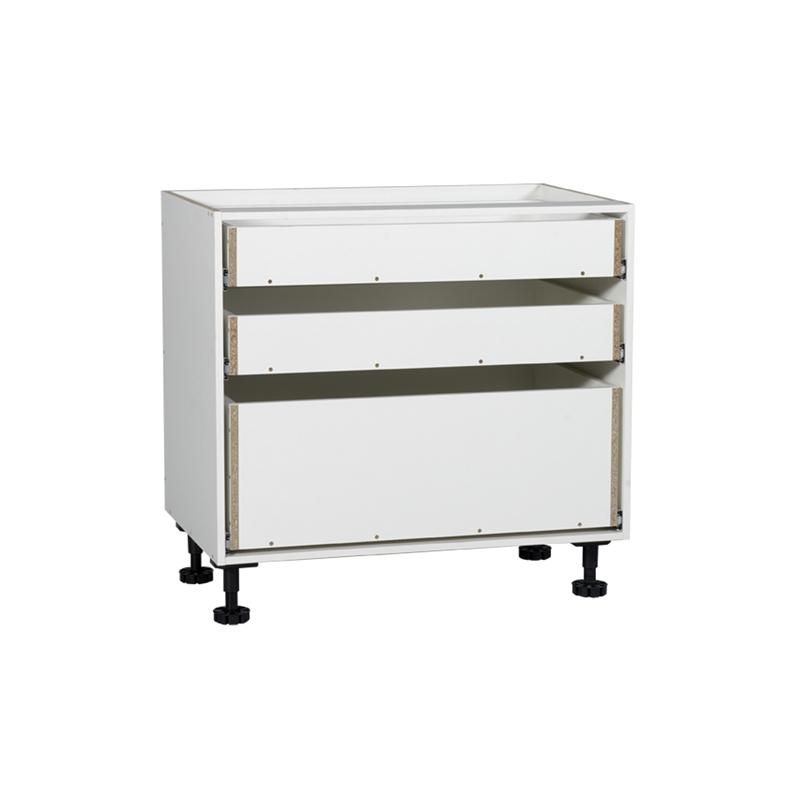 Kaboodle 900mm 3 Drawer Base Kitchen