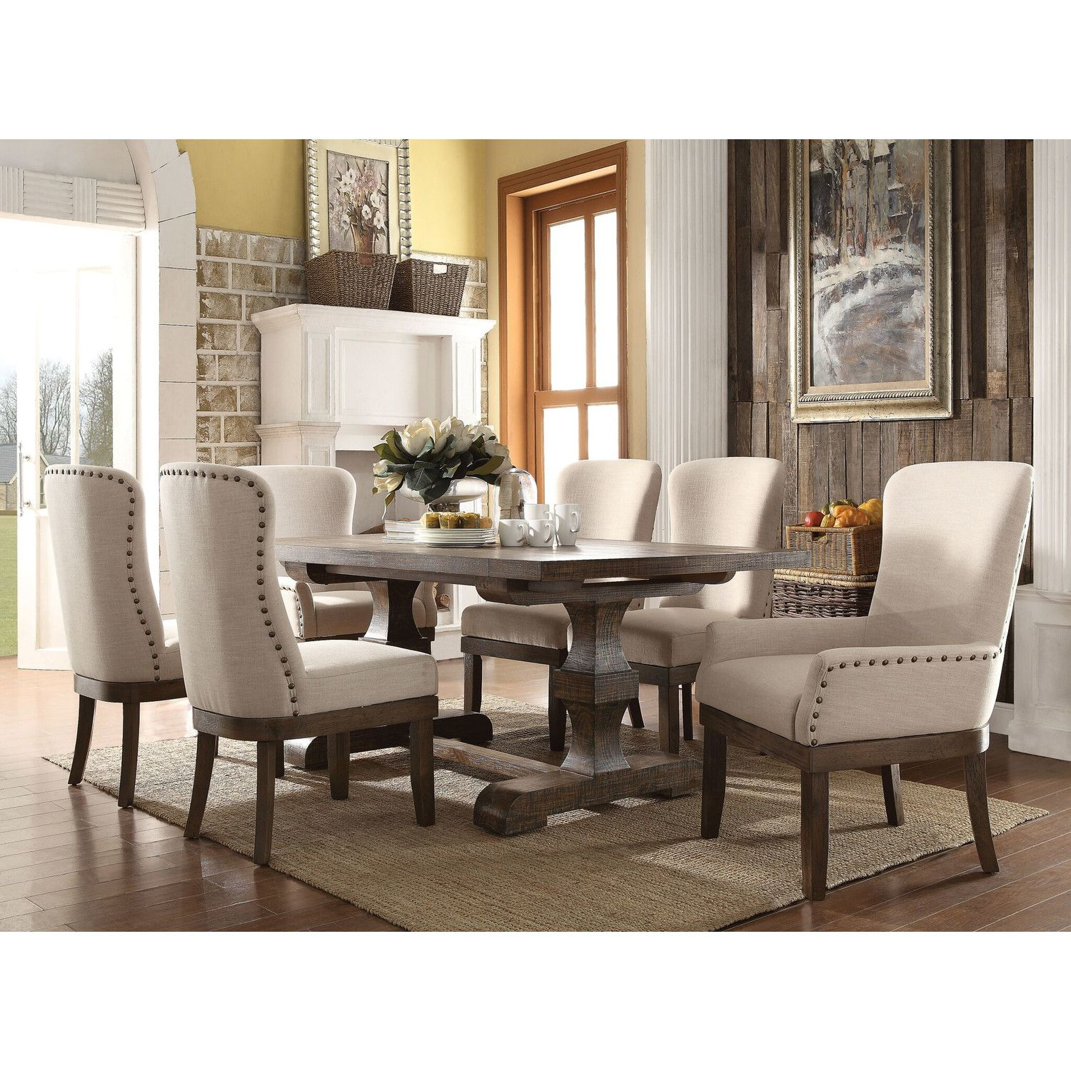 Infini Furnishings Mulhouse Piece Dining Set Reviews Wayfair - Wayfair white dining table