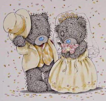 Открыток 1988, свадебные тедди картинки
