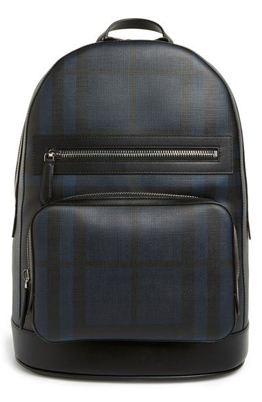 bced7ba6b159 BURBERRY London Check Faux Leather Backpack.  burberry  bags  leather  pvc   backpacks