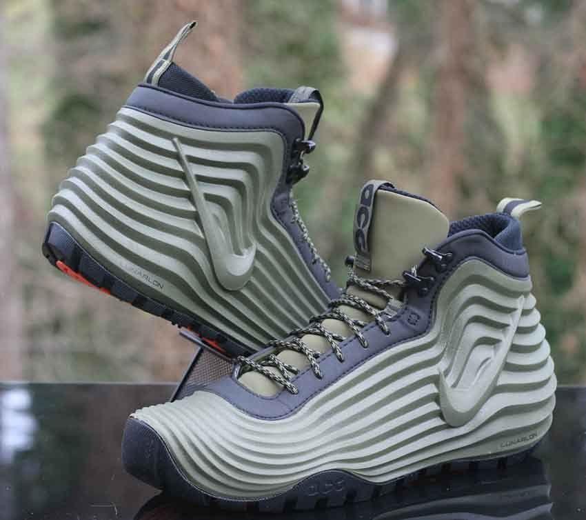 966ce2a8177cf Nike ACG Lunardome 1 Sneakerboot Olive Green Black 654867-220 Men s Size 11   Nike  HikingTrail