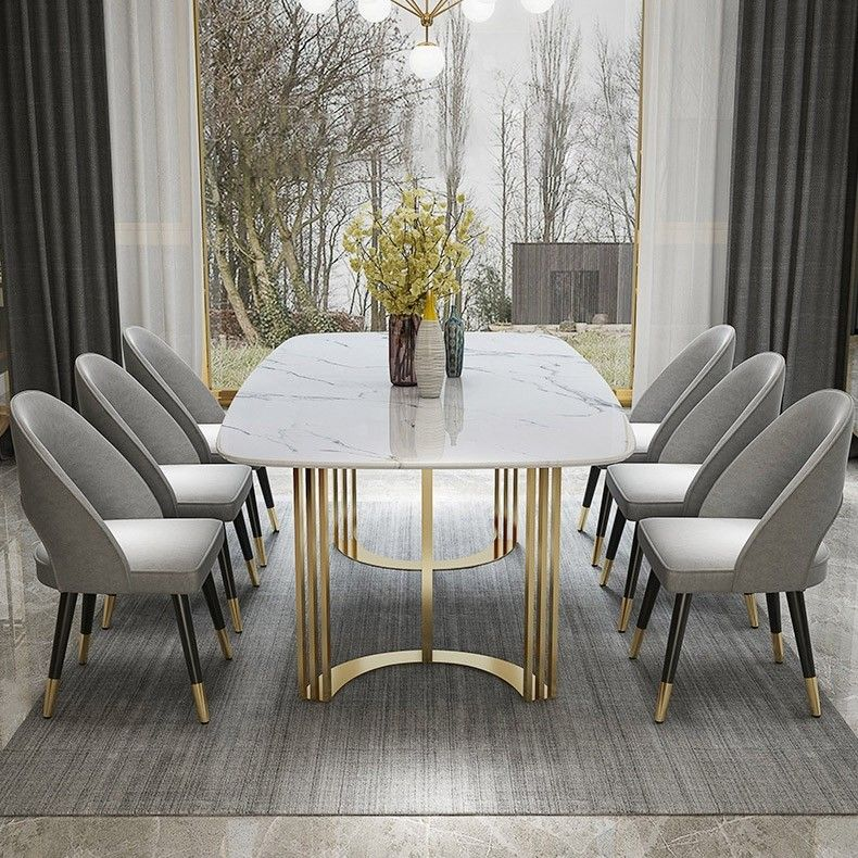 Faux Marble Dining Table Gold Dining Table Rectangular Stainless Steel Dining Table 6 Seat Dining Table Marble Faux Marble Dining Table Dining Table Gold