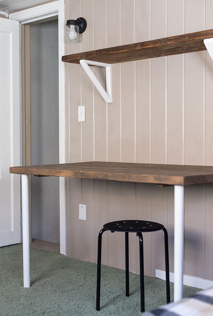 Simple Diy Wall Desk Shelf Amp Brackets For Under 23