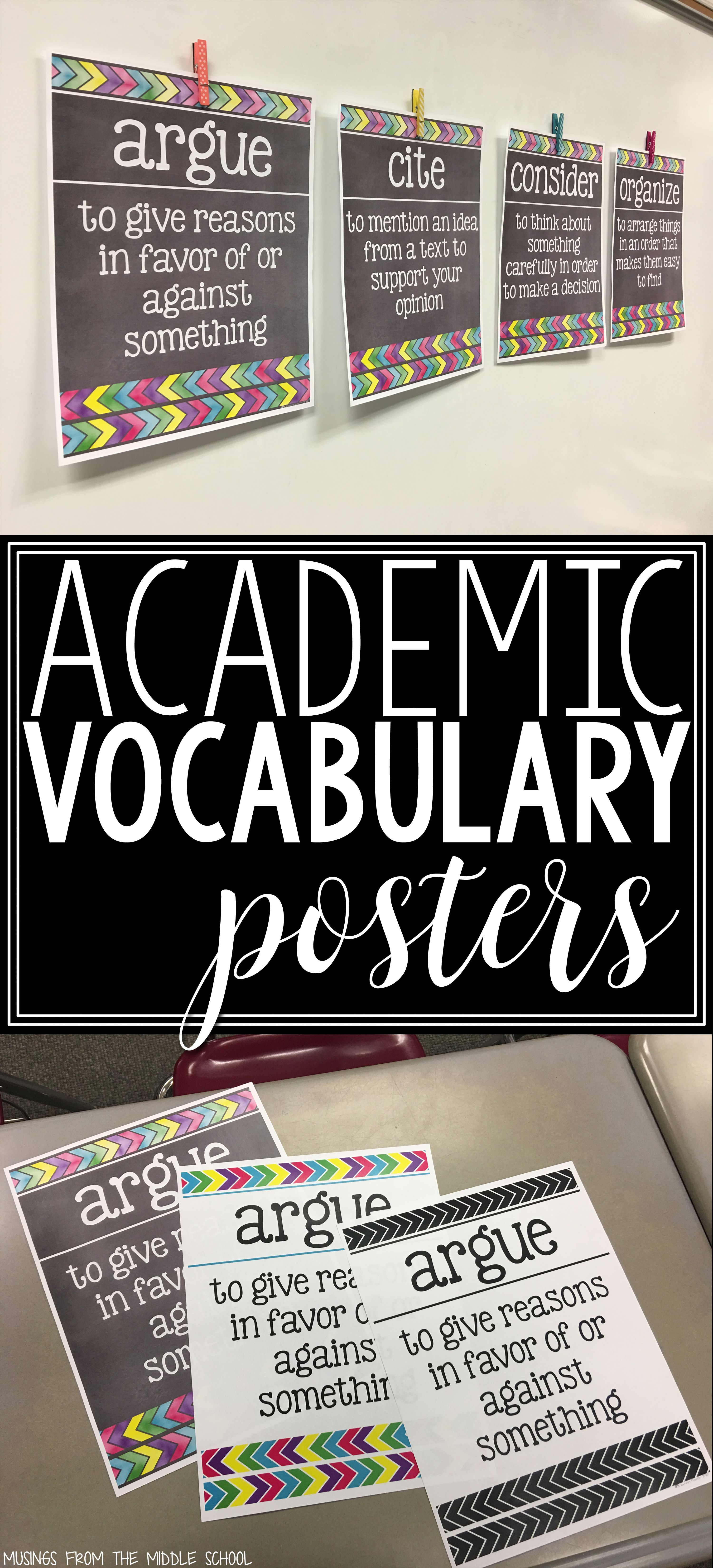 Academic Vocabulary Posters With Images