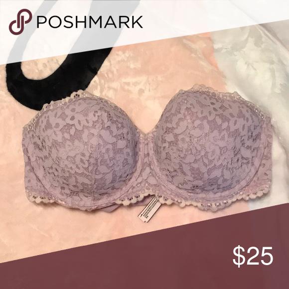 Victoria/'s Secret Body by Victoria Lined Strapless Multi-Way Bra Pale Pink