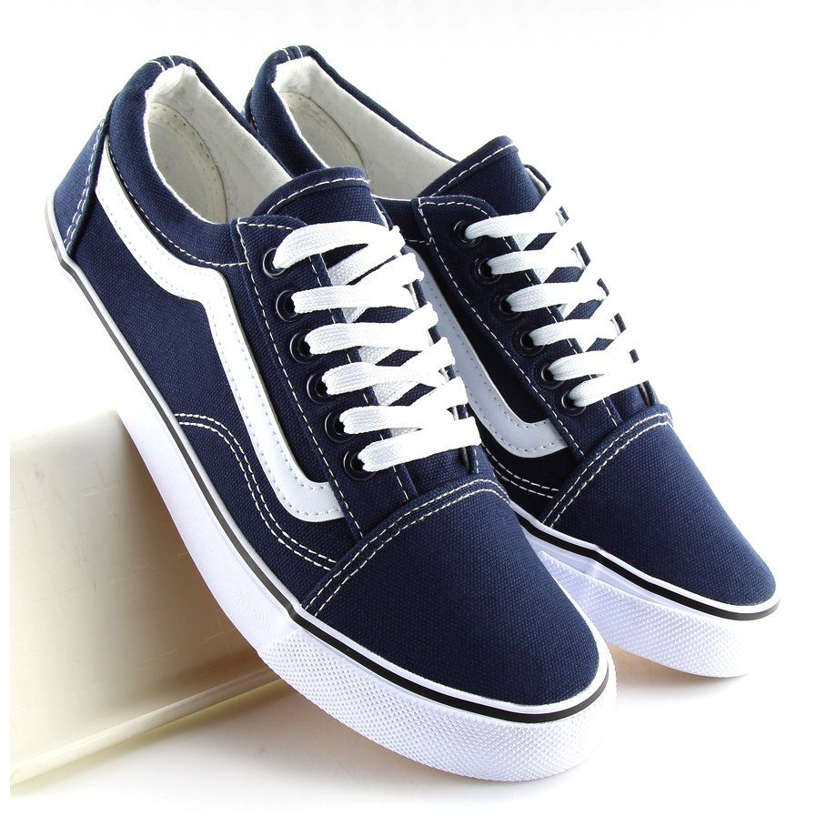 Trampki Damskie Granatowe Dc3 Navy Biale Vans Old Skool Sneaker Vans Sneaker Sneakers