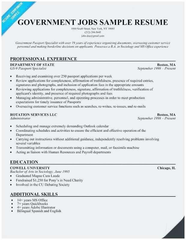 Federal Job Resume Template Best Of 25 Designs Printable Sample Resume Templates Pics Arkroseprimary Di 2020