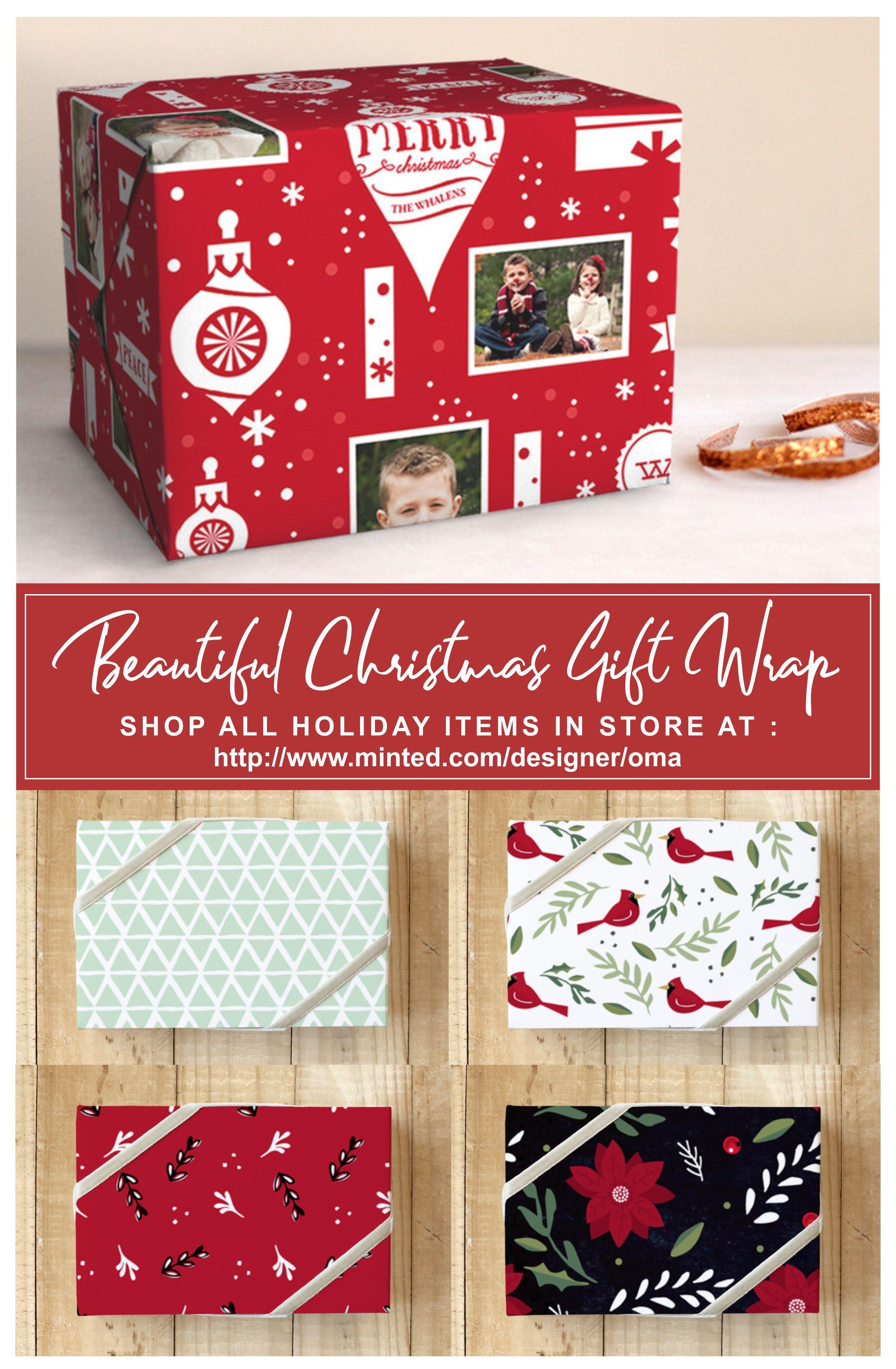 Christmas Gift Wrap, Christmas Wrapping Paper, Christmas Gift Wrap ...