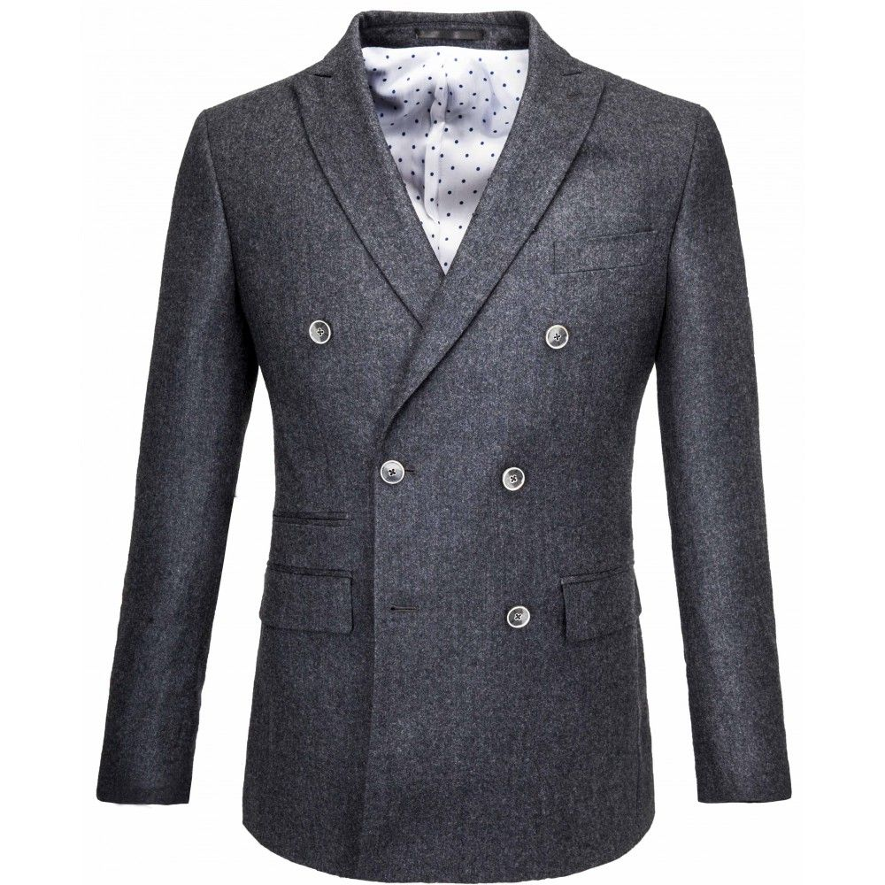 Grey flannel jacket  LIONOIR Classic grey flannel double breasted jacket  Inspiration