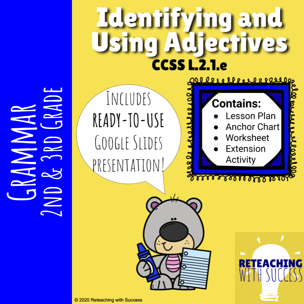 Adjectives Worksheets Amp Powerpoint L 2 1 E In