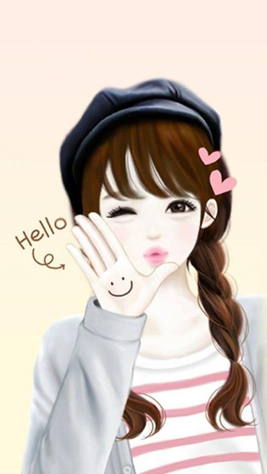 Imagine Timeline Photos Facebook Cute Cartoon Girl Cute Girl Wallpaper Cartoon Girl Drawing