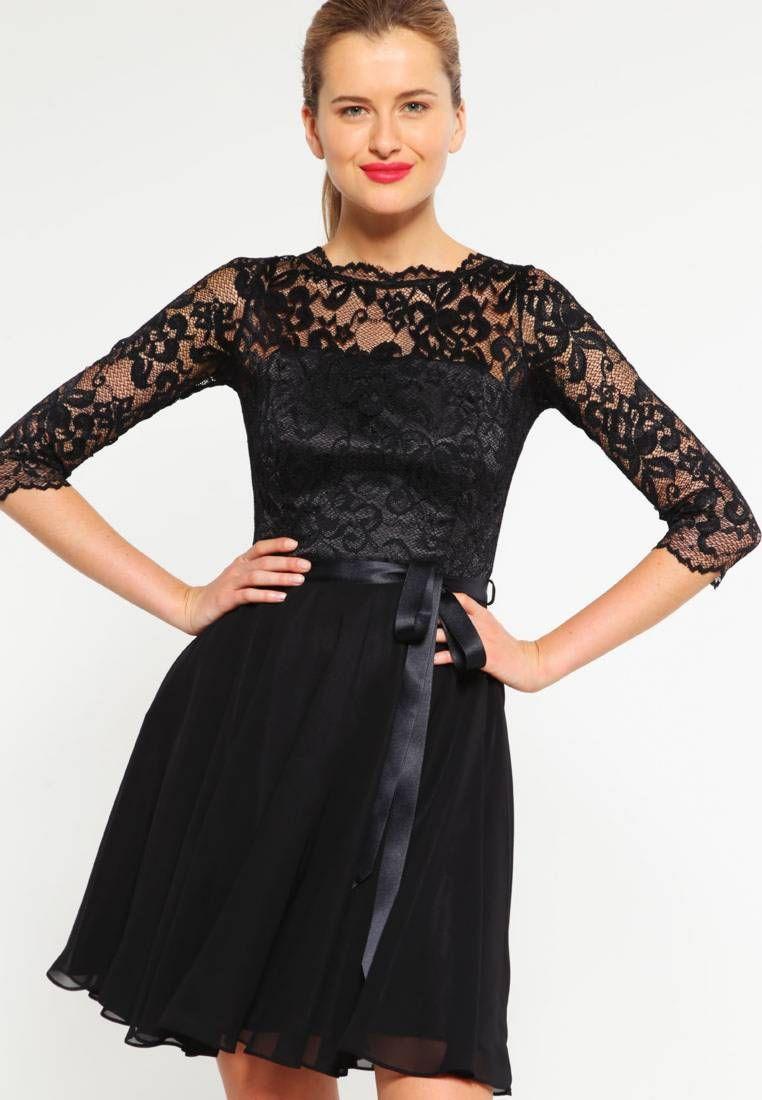 Swing. Cocktailkleid / festliches Kleid - schwarz. Details:Gürtel ...