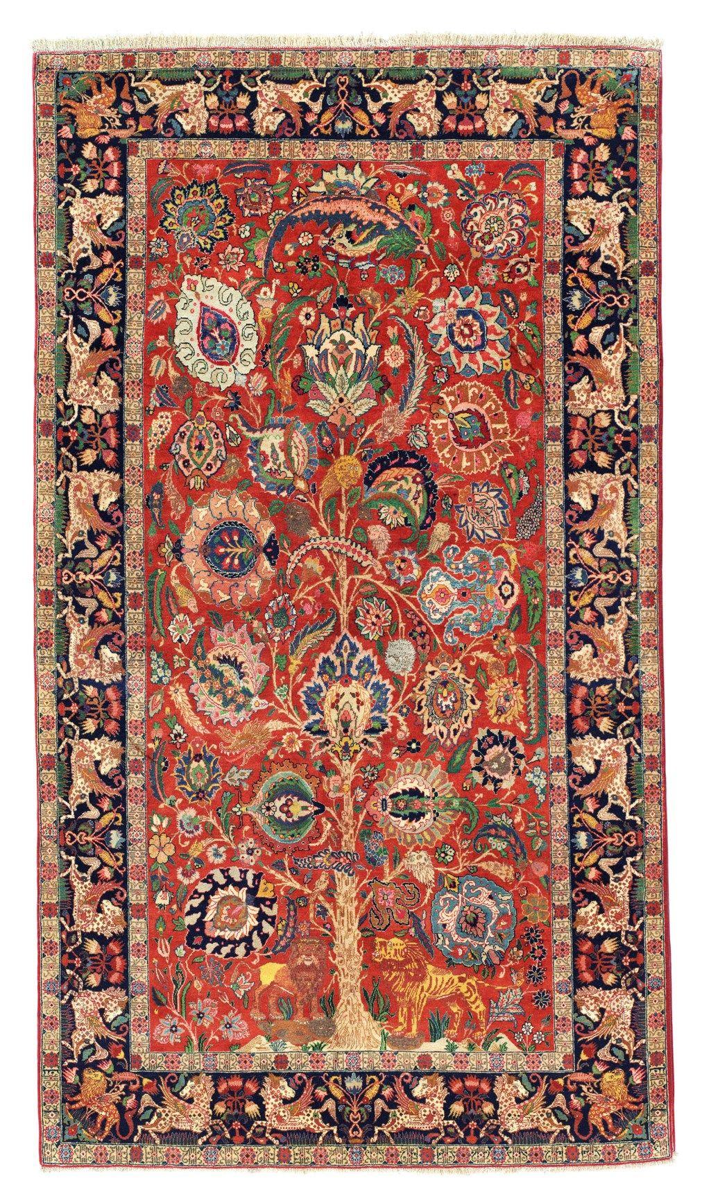 Part Silk Tabriz Carpet North West Persia Circa 1920 In 2020 Antique Persian Carpet Antique Persian Rug Rugs On Carpet