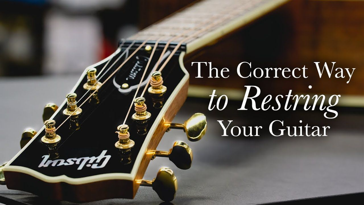 How To Restring An Acoustic Guitar The Tour Tech Tutorial Youtube In 2020 Guitar Strings Guitar Acoustic Guitar