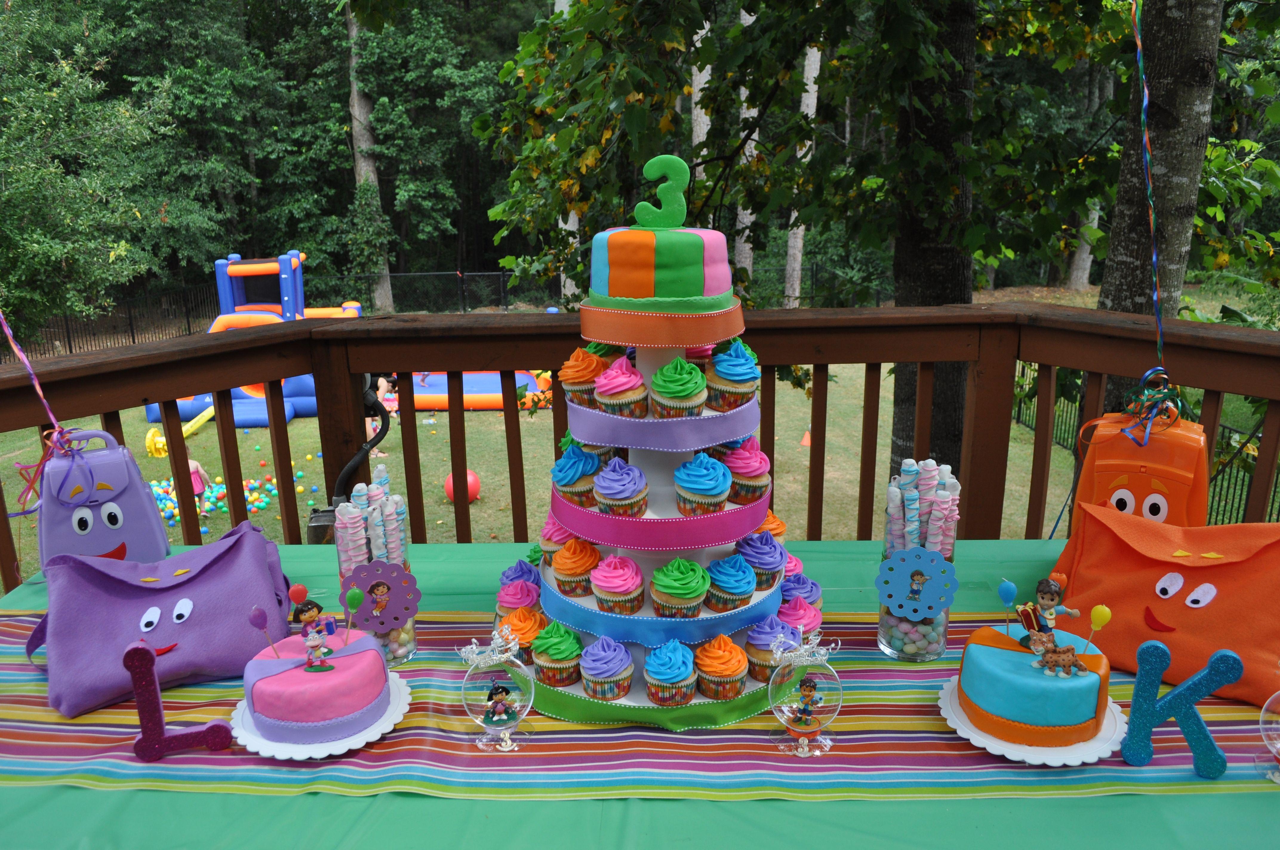 Dora Ampgo 3rd Birthday Like The Cupcake Stand