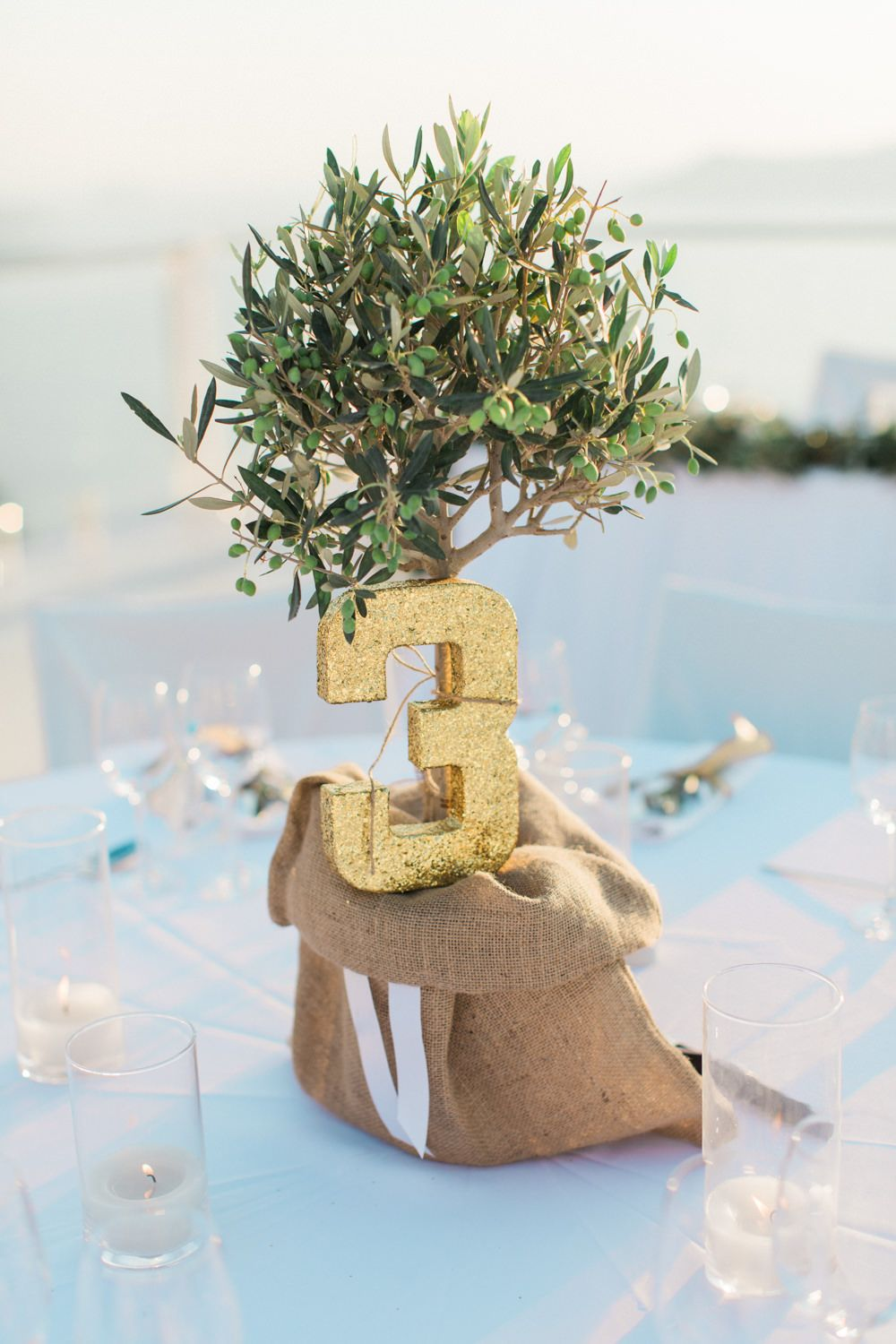 Elegant Santorini Wedding At Rocabella Hotel With Olive Tree Decor Jesús Peiró Dress