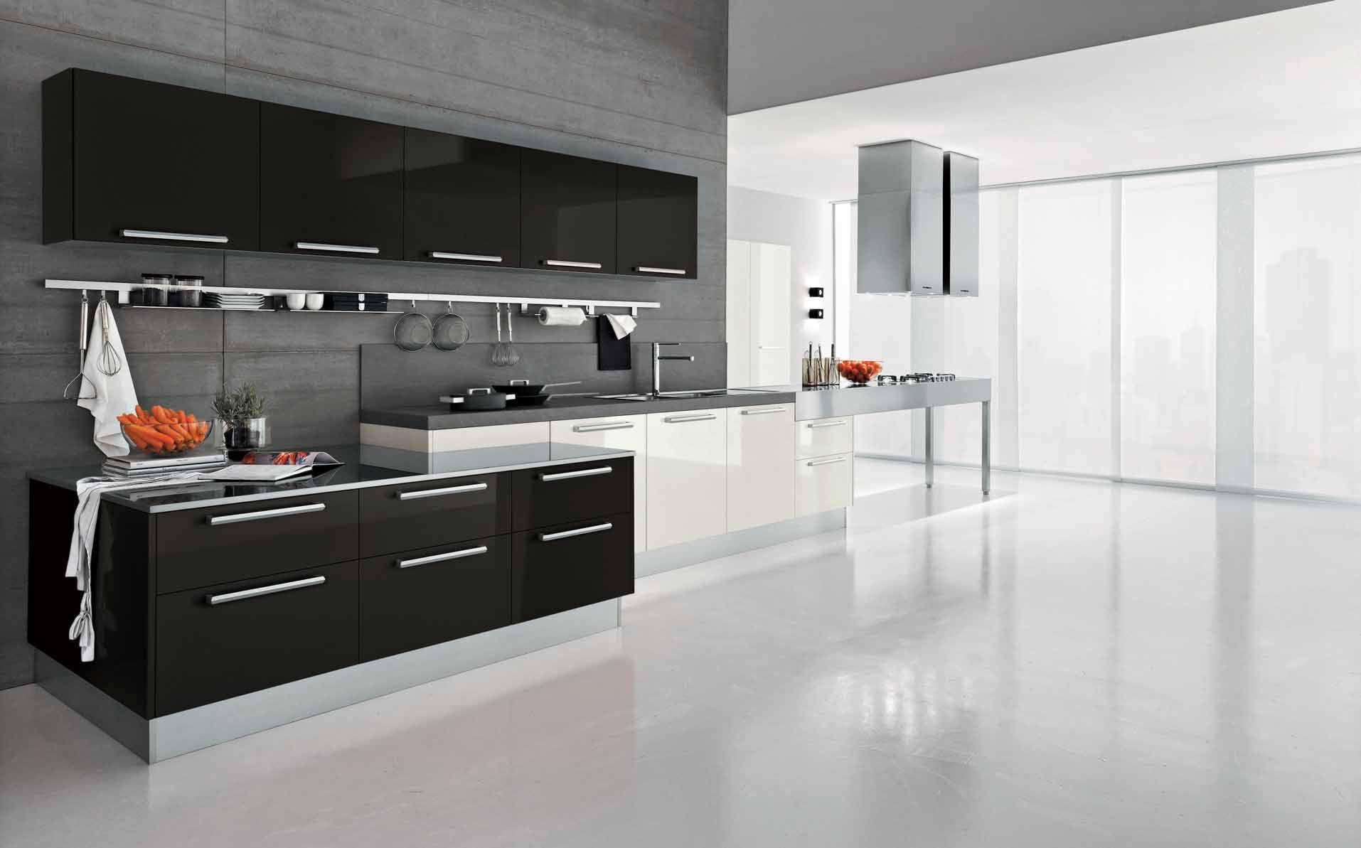 U-förmige küchendesigns modern kitchen designs from berloni modern dark wave kitchen design