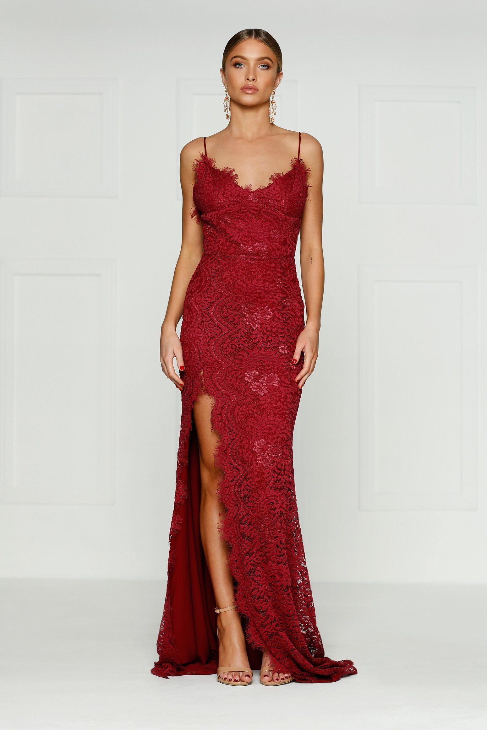 c207fc2121 Bariano High Neck Embellished Maxi Dress  affiliate