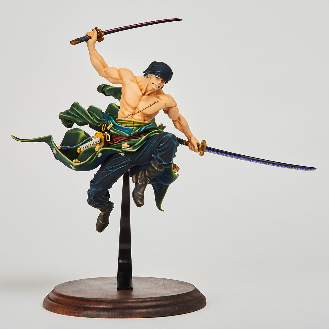 Anime One Piece POP DX Roronoa Zoro Red Fighting Suit PVC Figure Toy Gift