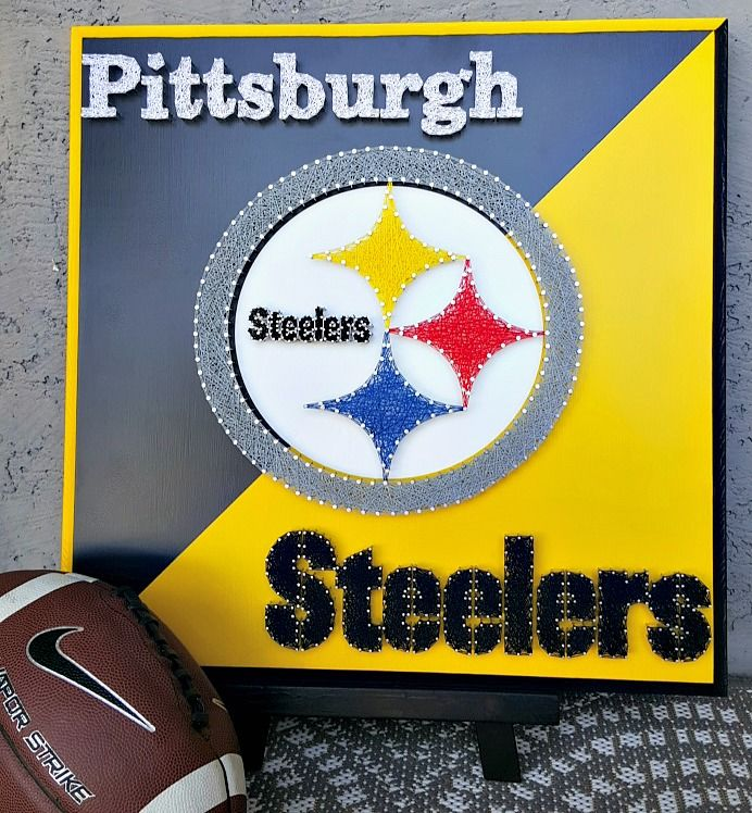 20 x 20 Pittsburgh Steelers string art