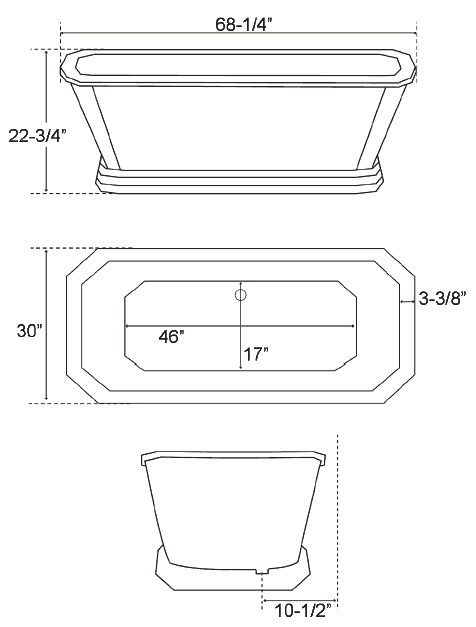 Bathtub Dimensions Standard Sizeluxury Freestanding Tubs For Your