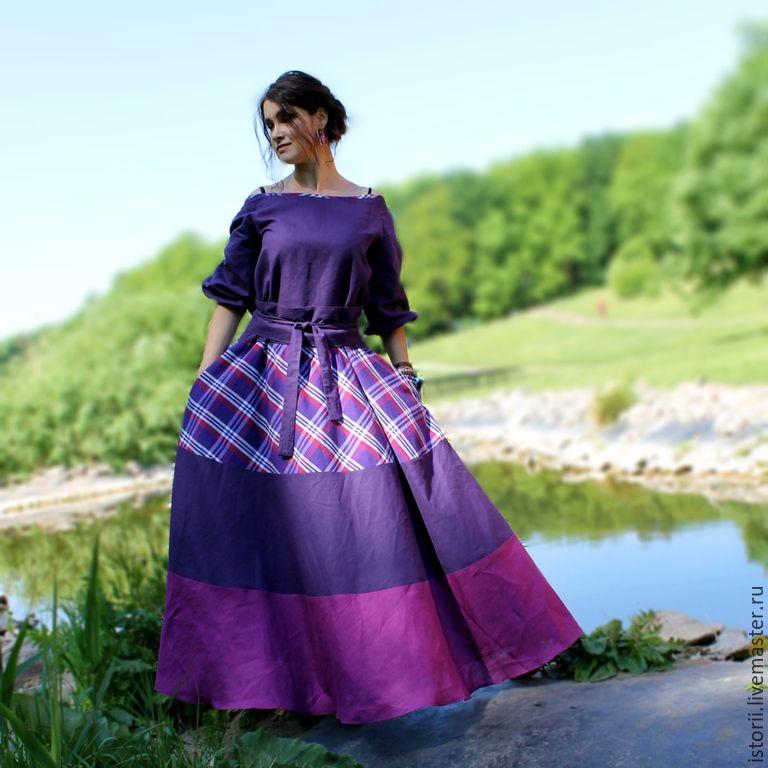платье цвет фиолетовый купить