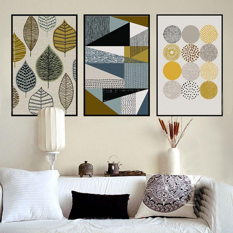 g om trique abstrait toile peintures nordique scandinave tirages l 39 huile d 39 art de mur photos. Black Bedroom Furniture Sets. Home Design Ideas