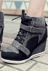 Sneakers heeled.. I have some that are pink and black!! I love them