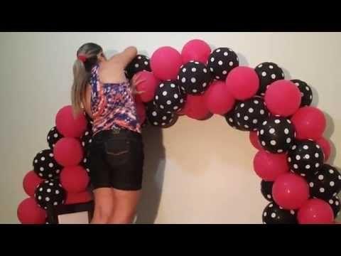 Arco De Baloes Com 2 Cores Balloon Arch With Two Colors