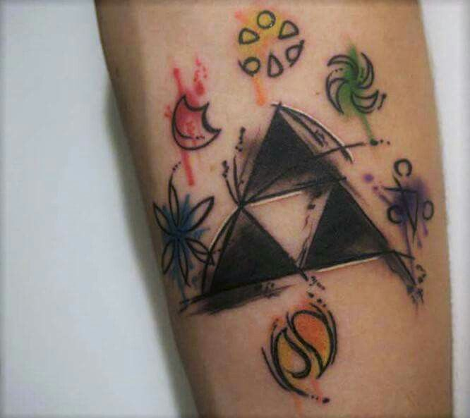 Legend Of Zelda Triforce Tattoo Gaming Tattoo Idea Pinterest
