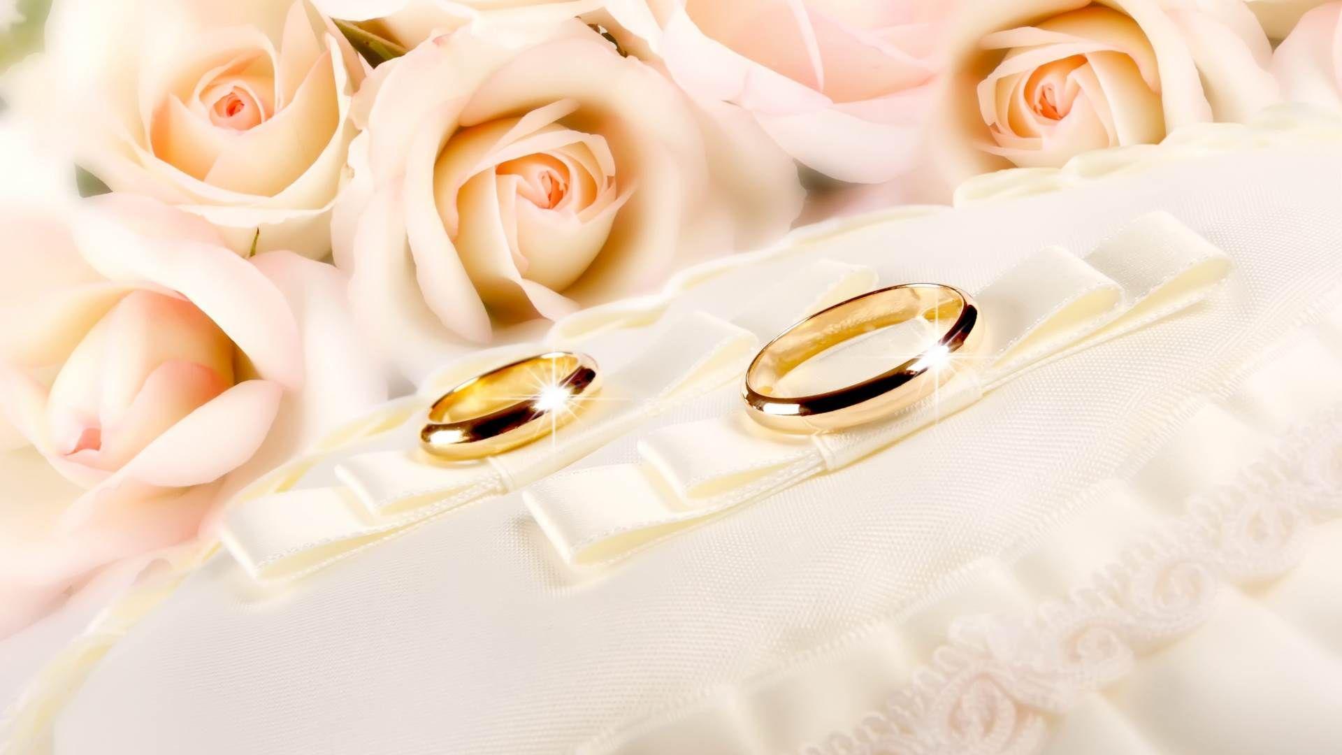 Открытки свадебные с кольцами