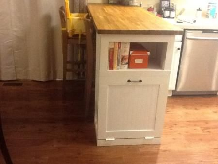 Kitchen breakfast bar with built in trash receptacle do it kitchen breakfast bar with built in trash receptacle do it yourself home projects from ana solutioingenieria Images