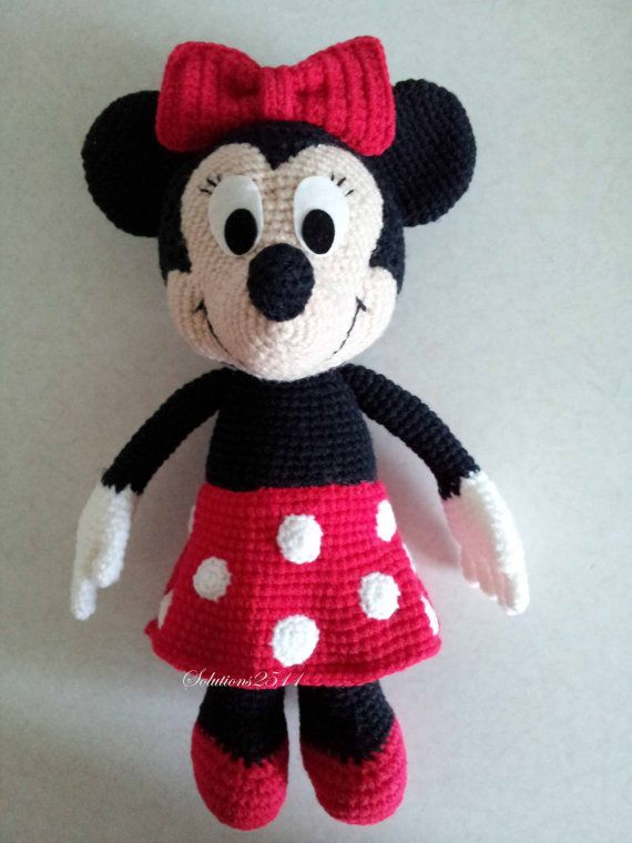Minnie Mouse- Handmade crochet doll birthday gift, Baby shower toy ...