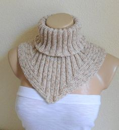 Men scarf cowl neck warmer knit collar soft hand by likeknitting #golasdetrico