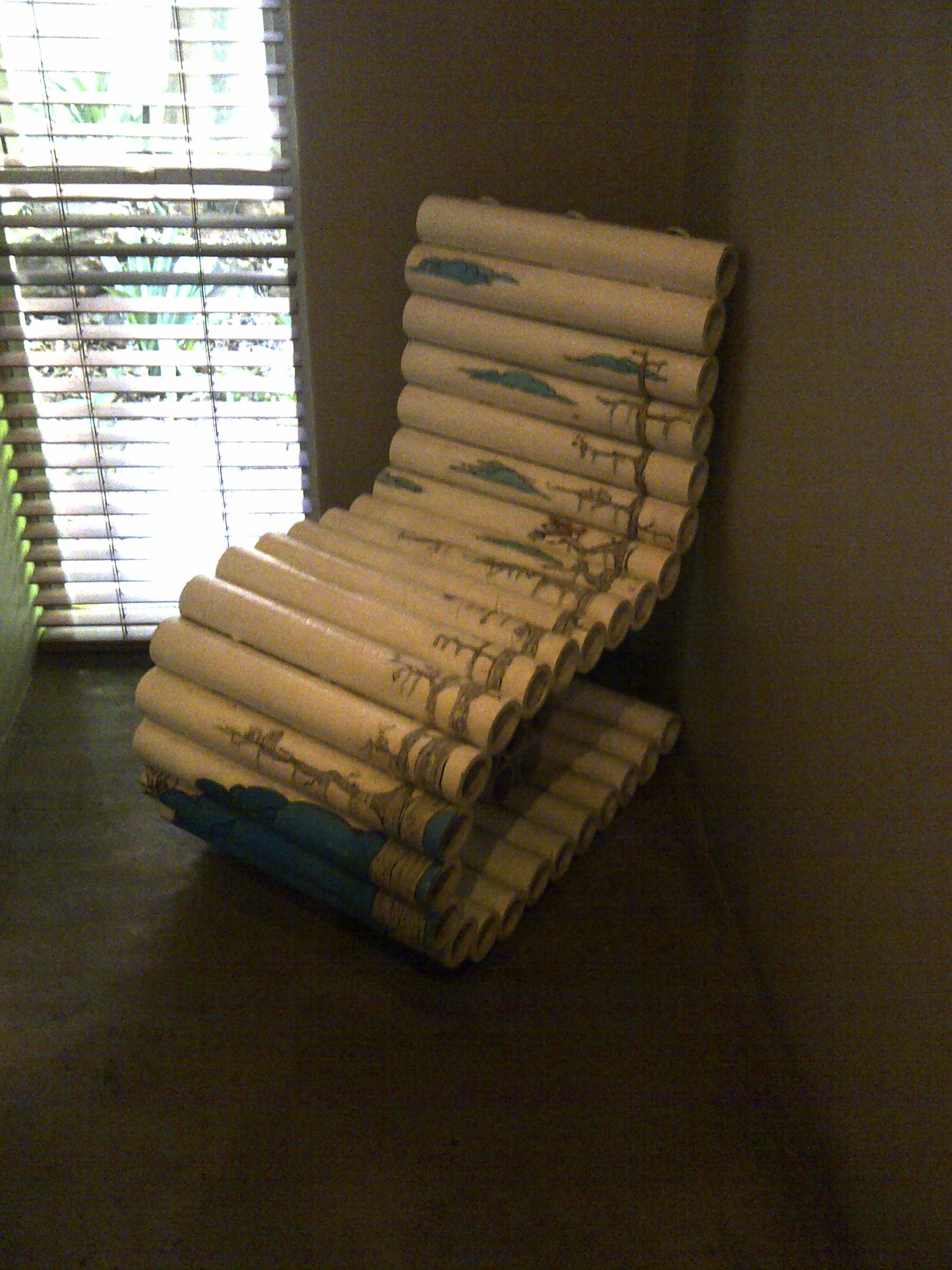 Painted cardboard tube chair. Peech hotel, Joburg | Cardboard ...