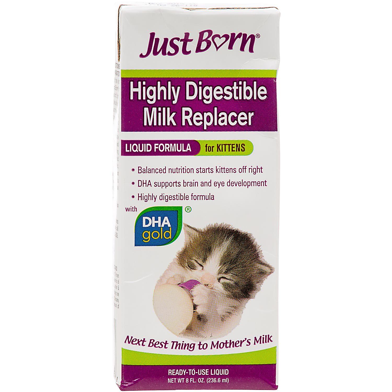 Just Born Milk Replacer Liquid Kitten Formula Kitten Formula Kitten Pet Care