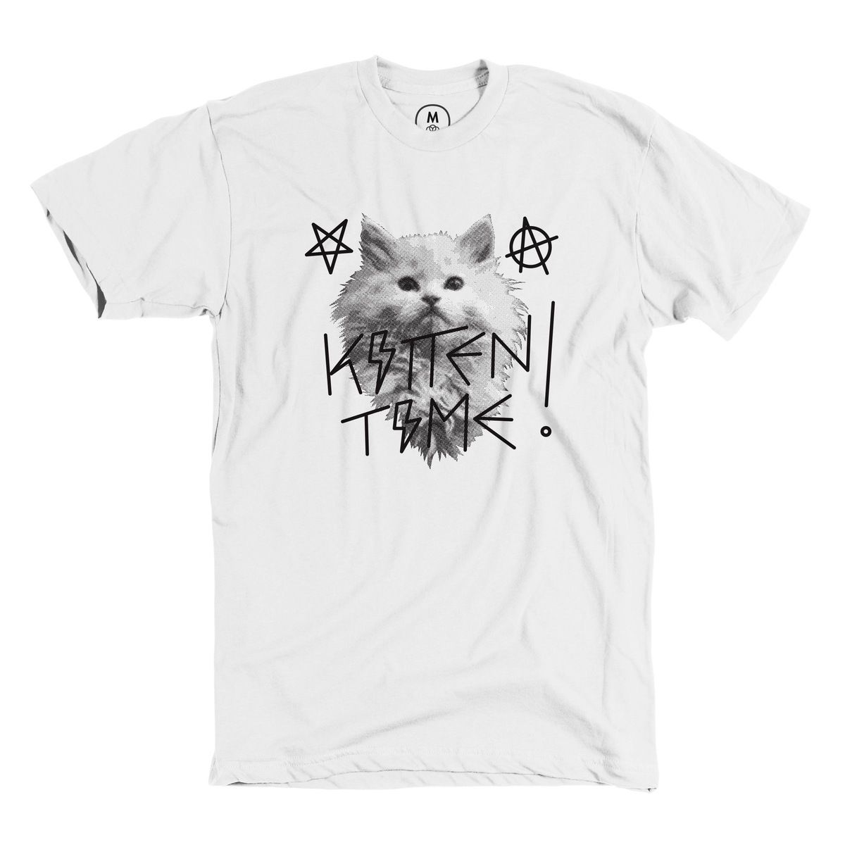 Hail Kitten Designed By Jennifer Norwood There S Always Time For Ritual Kitten Worship Merely Sacrifice Your Ice Cold Heart Kitten Cat Tshirt Mens Tshirts